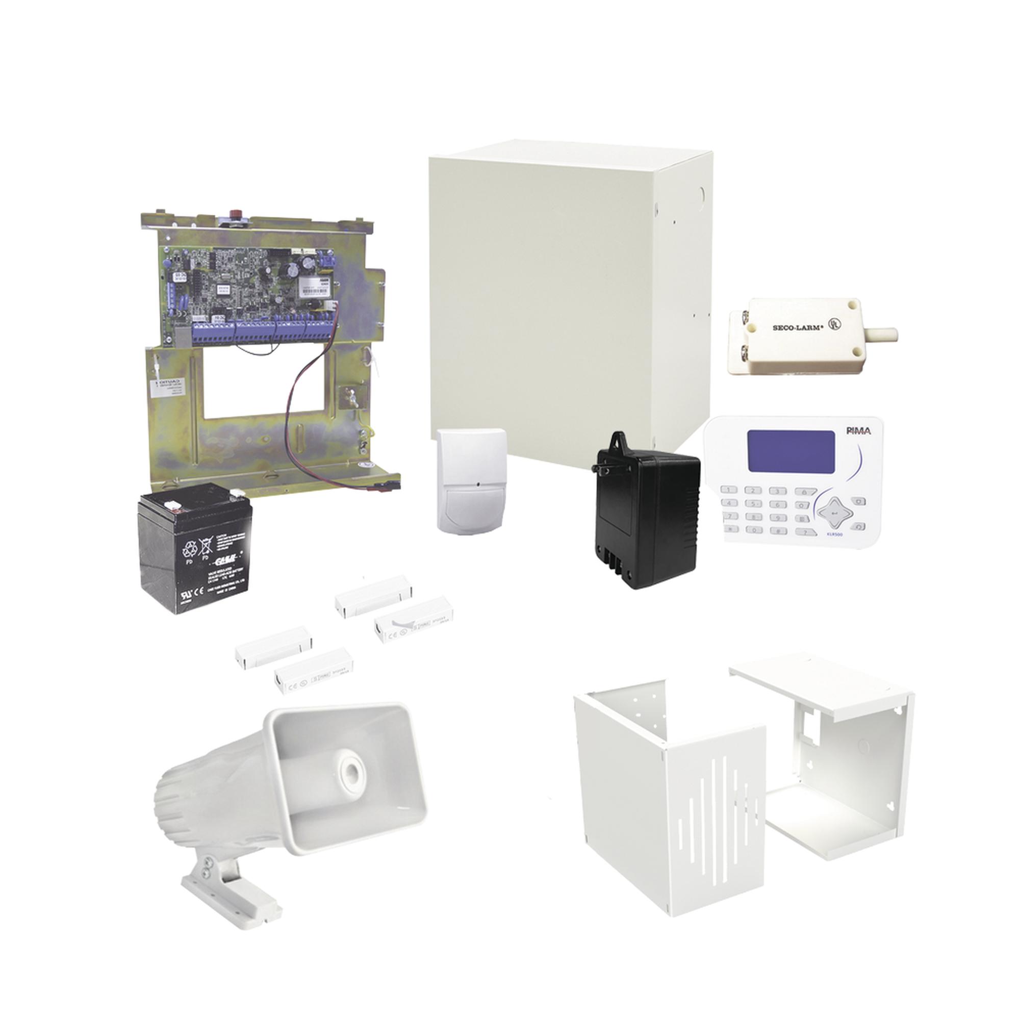 Kit de Alarma con Sensores cableados, Conexion IP con App PIMALINK2.0 Gratis!