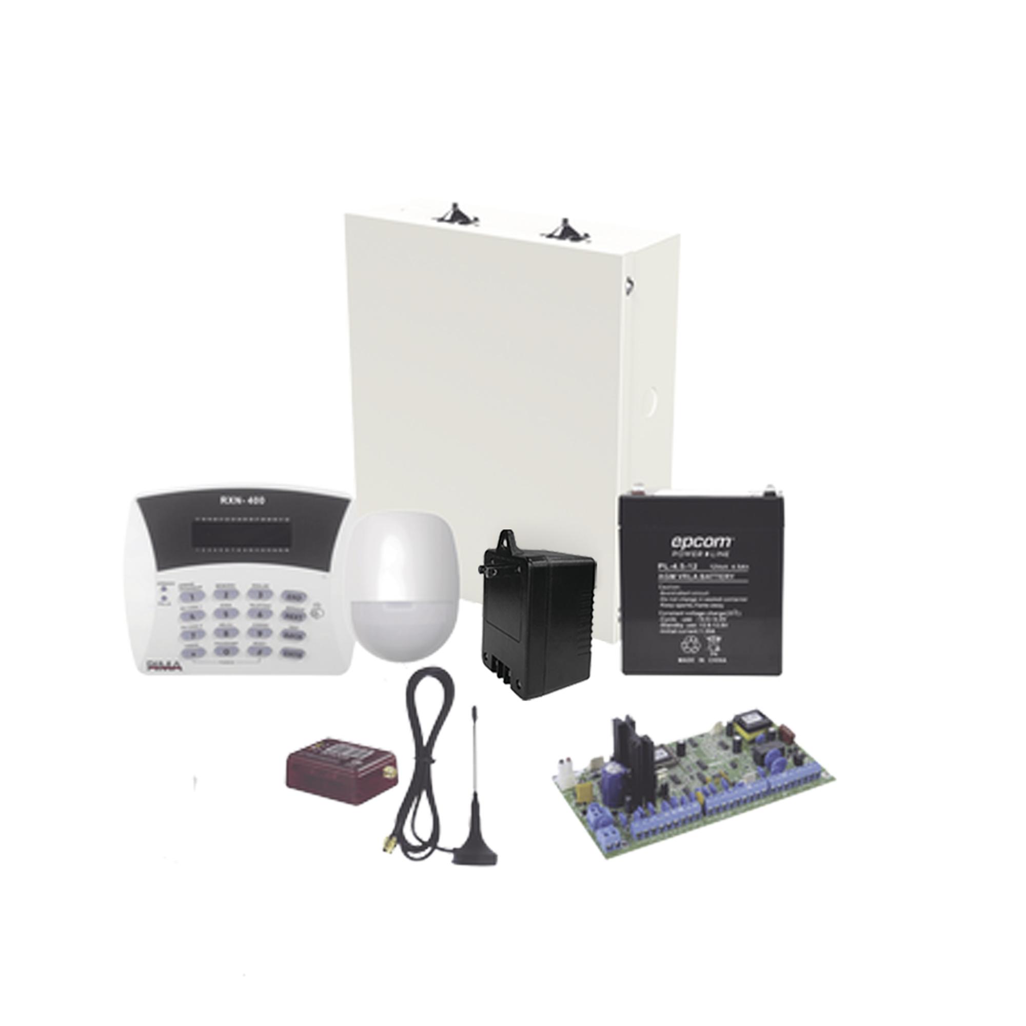 Kit de Alarma Hunter6 con Comunicador MN02LTEMV3, Teclado, Gabinete, Batería y Transformador.