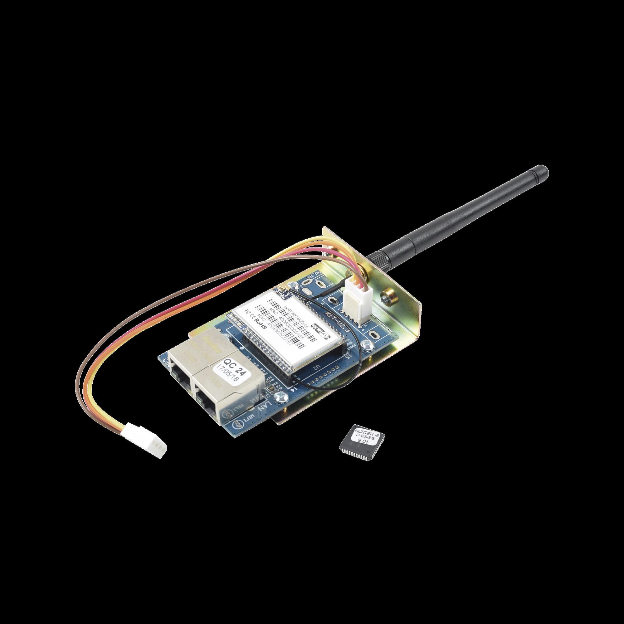 Kit de Comunicador WIFI/Ethernet para paneles PIMA HUNTER8 y CHIP para actualizar. Permite uso de App PIMALink 2.0 Gratuita.