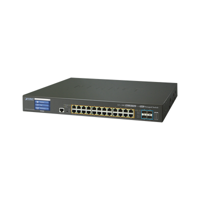 Switch Administrable L3 24 puertos 10/100/1000 Mbps c/Ultra PoE 400 Watts, 4 Puertos 10G SFP+