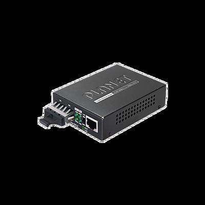 Convertidor de medios 1000 Mbps UTP/fibra óptica Mono-Modo hasta 10 Km, conector SC