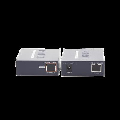 Kit Transmisor y Receptor PoE de Largo Alcance sobre Coaxial hasta 1km