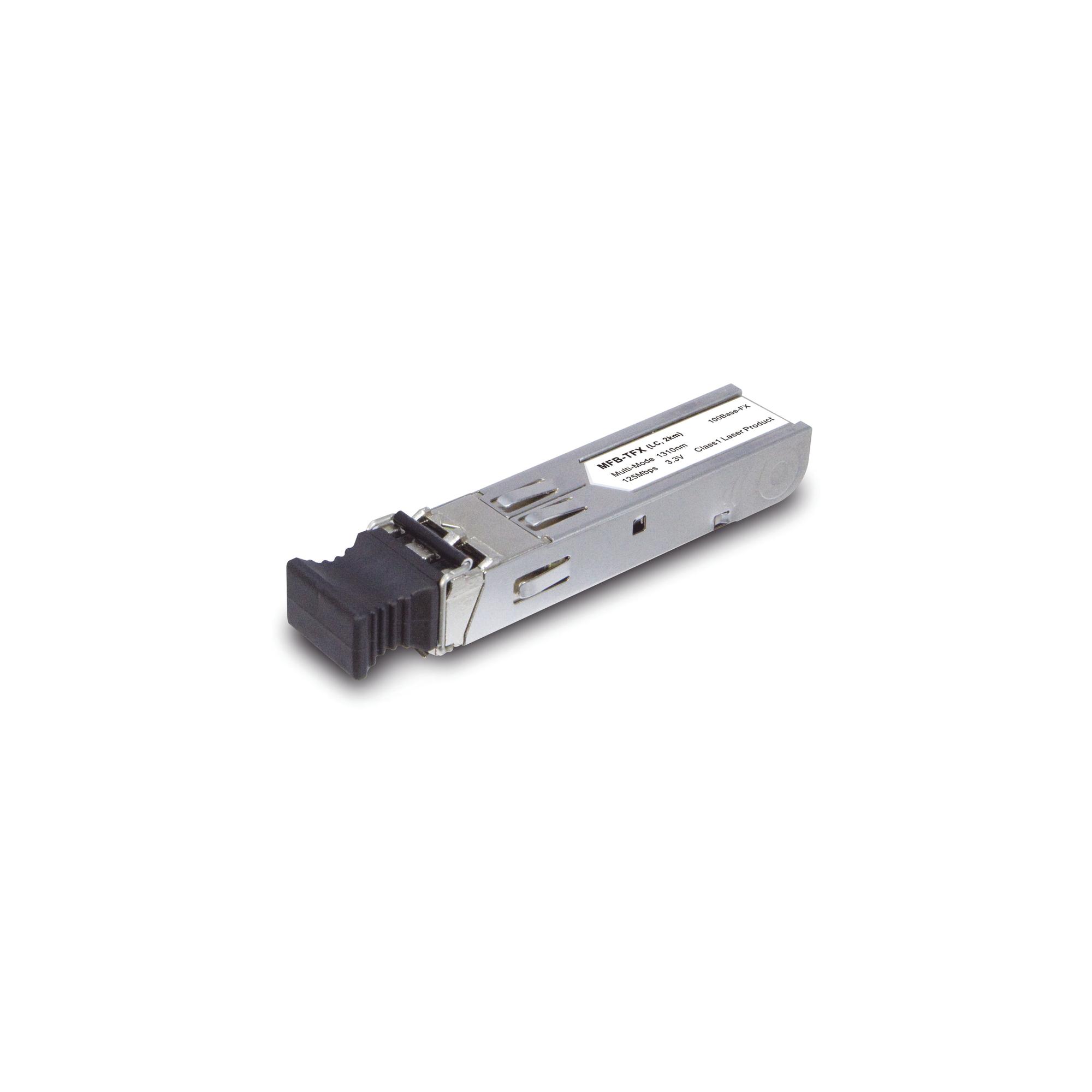 Transceptor mini-Gbic SFP 100Mbps LC 1310nm para fibra Multi Modo 2 Km
