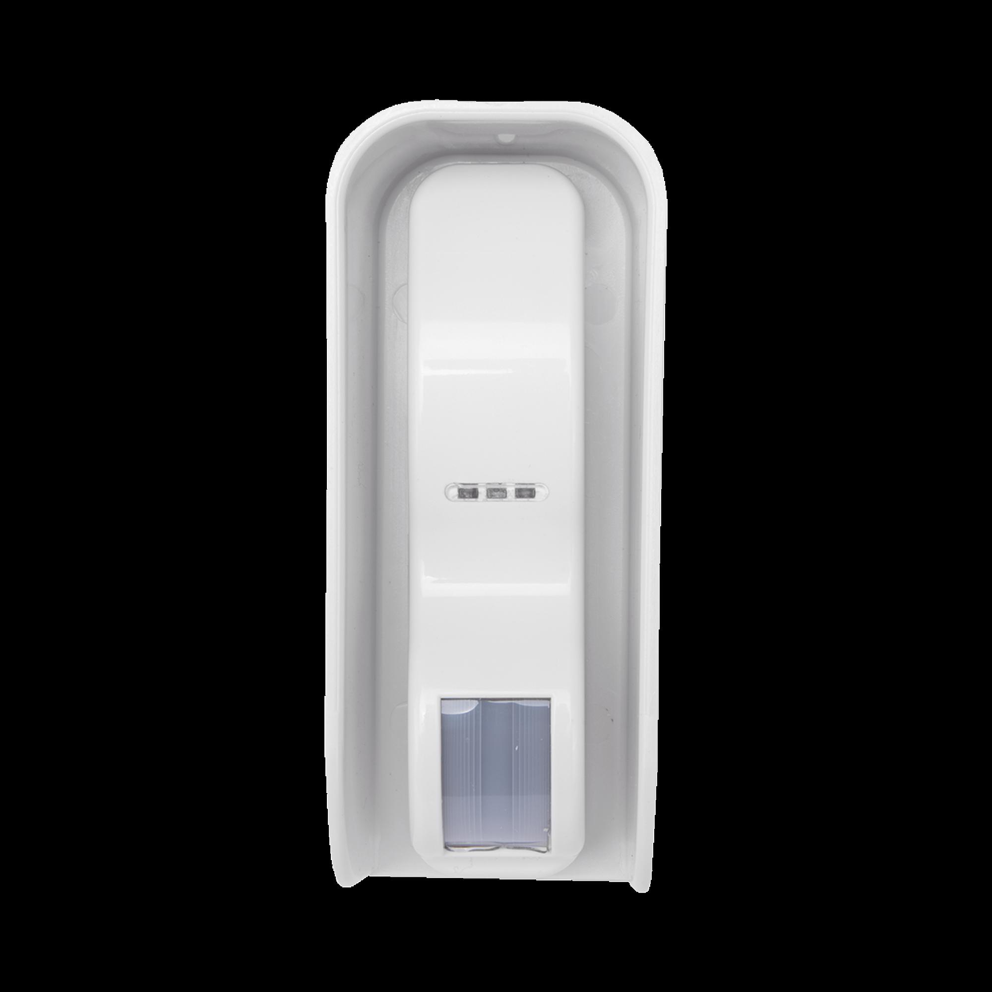 Sensor de Movimiento Tipo Cortina / 100 % Exterior / Alimentado por baterias / Doble tecnologia MW & PIR / Compatible con cualquier panel de alarma
