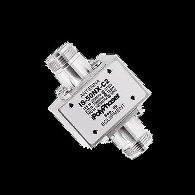 Protector Coaxial RF de CD Para 125 - 1000 MHz Con Ceja lateral y Conectores N Hembra en Ambos Lados, 50 Ω