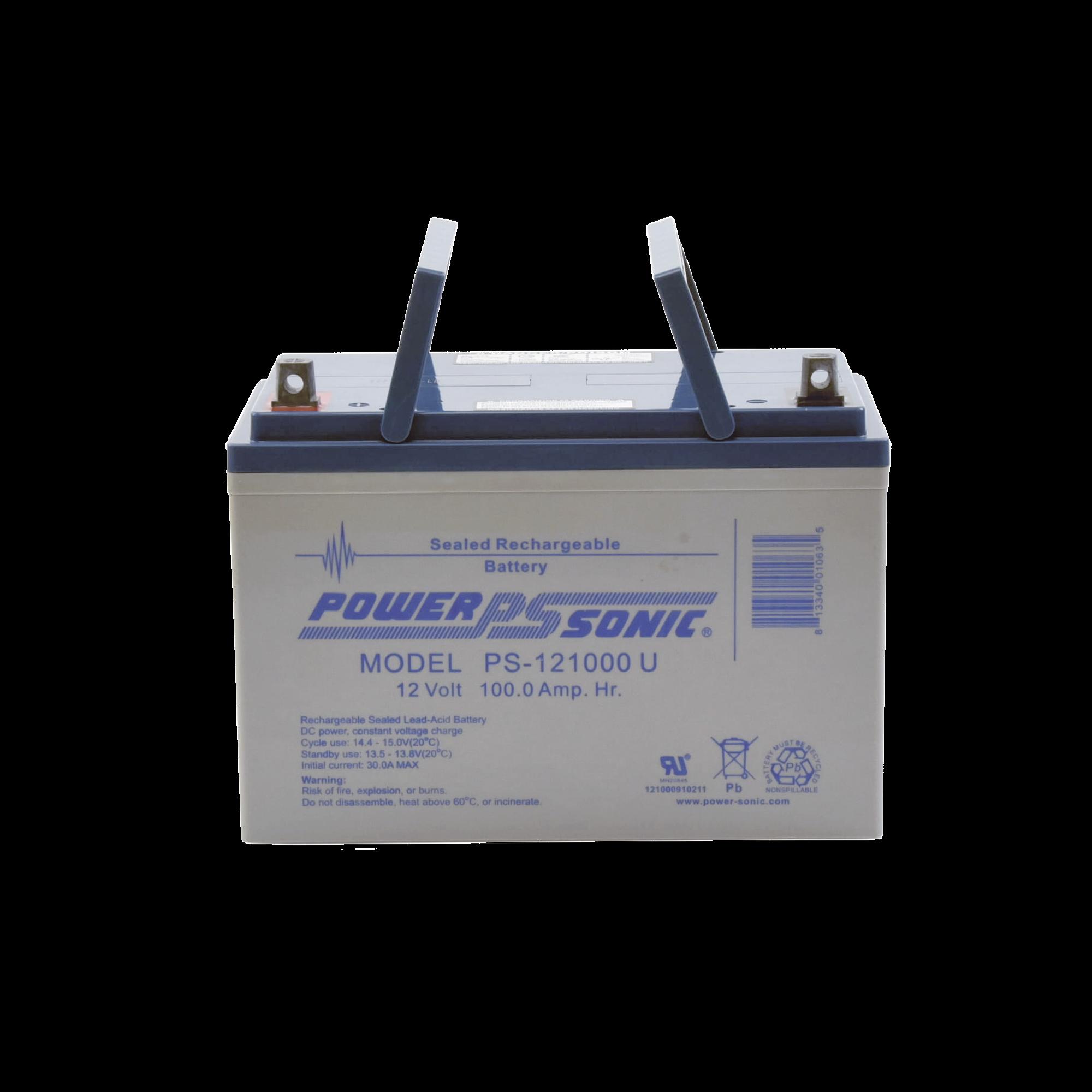 Batería de Respaldo UL de 12V 100AH, Ideal para Sistemas de Detección de Incendio, Control de Acceso, Intrusión y Videovigilancia