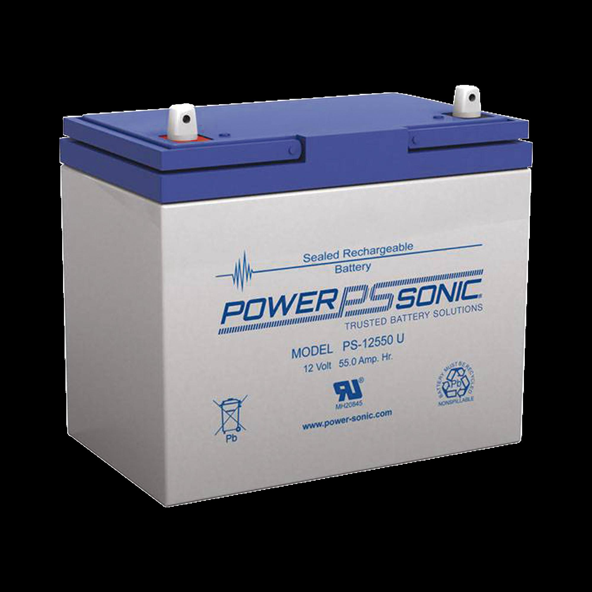 Batería de Respaldo UL de 12V 55AH, Ideal para Sistemas de Detección de Incendio, Control de Acceso, Intrusión y Videovigilancia