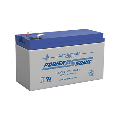 Batería de Respaldo UL de 12V 7AH / Ideal para Sistemas de Detección de Incendio / Control de Acceso / Intrusión / Videovigilancia / Terminales Tipo F1