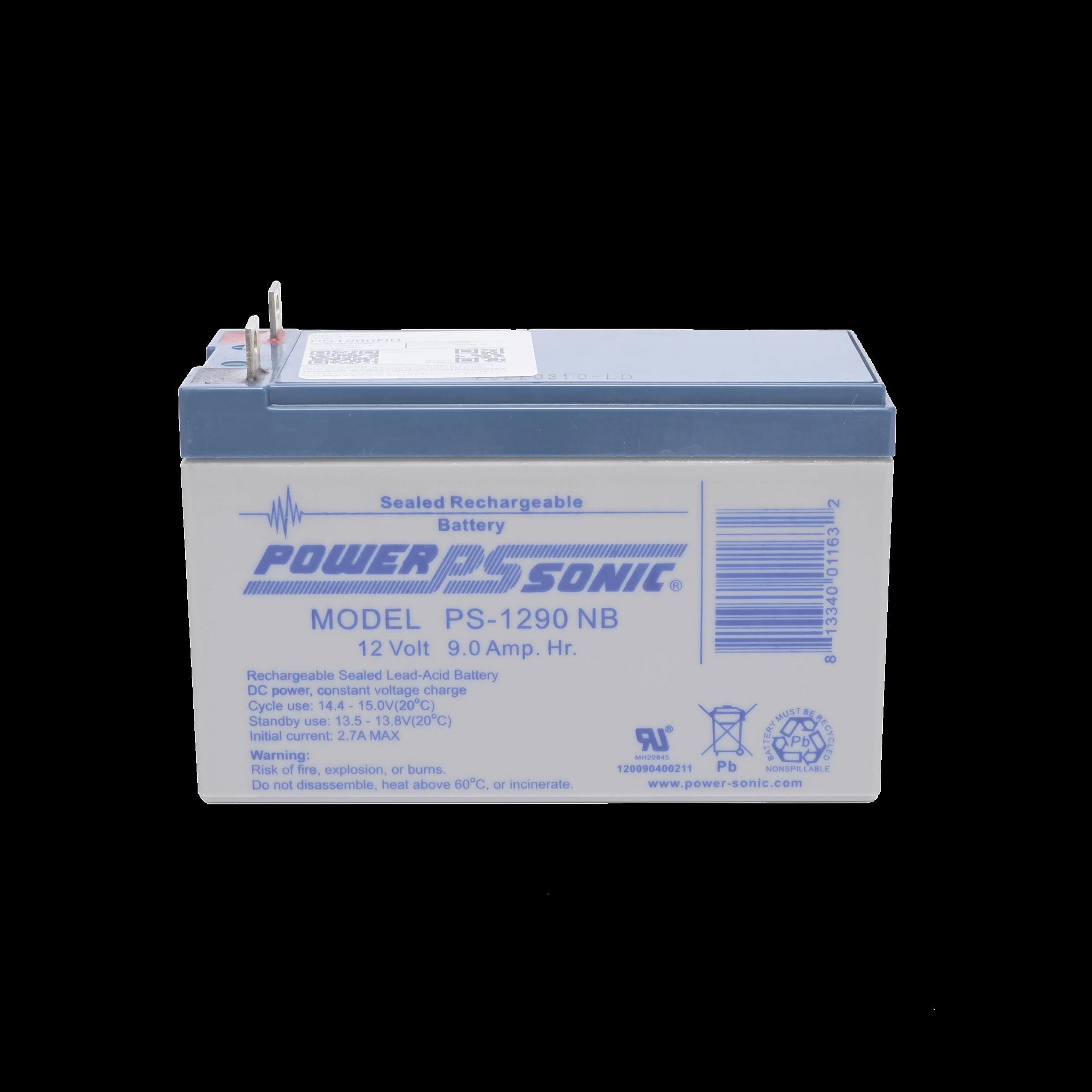 Batería de Respaldo UL de 12V 9AH / Ideal para Sistemas de Detección de Incendio / Control de Acceso / Intrusión / Videovigilancia / Terminales Tipo NB