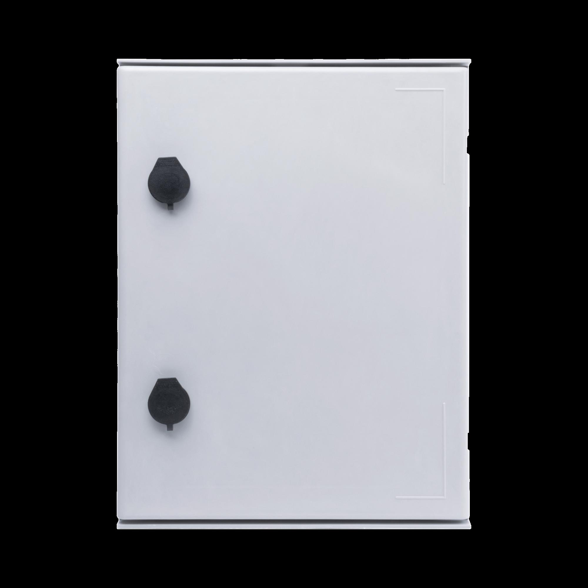 Gabinete de Poliéster IP65 Uso en Intemperie (300 x 400 x 200 mm) con Placa Trasera Interior (Incluye Chapa y Llave).