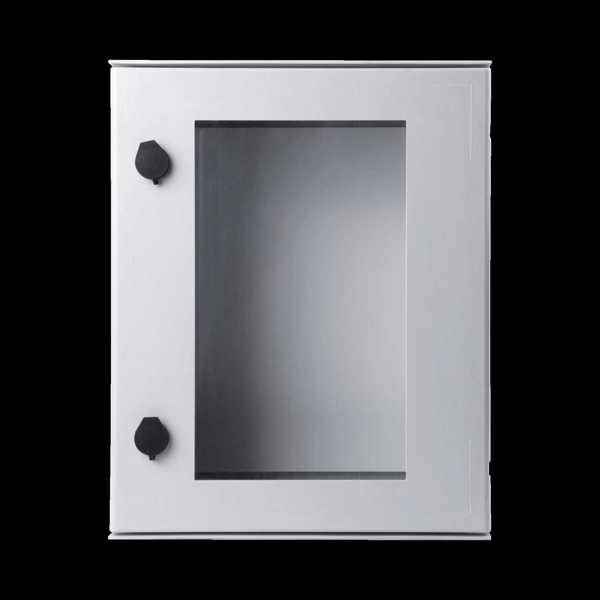 Gabinete de Poliéster IP65 Puerta Transparente, Uso en Intemperie (400 x 500 x 200 mm) con Placa Trasera Interior (Incluye Chapa y Llave).