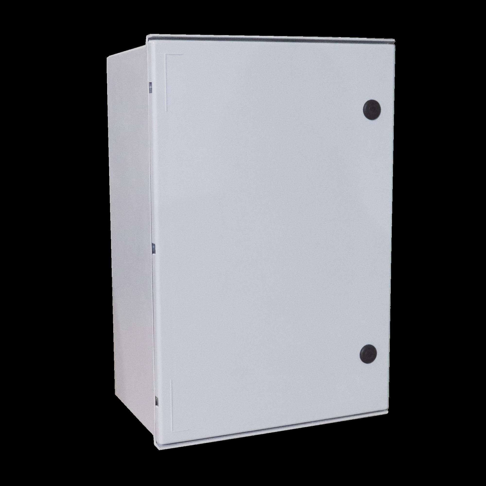 Gabinete de Poliéster IP65 Uso en Intemperie (600 x 800 x 300 mm) con Placa Trasera Interior (Incluye Chapa y Llave).