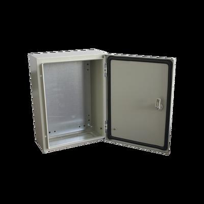 Gabinete de Acero IP66 Uso en Intemperie (300 x 400 x 200 mm) con Placa Trasera Interior y Compuerta Inferior Atornillable (Incluye Chapa y Llave).