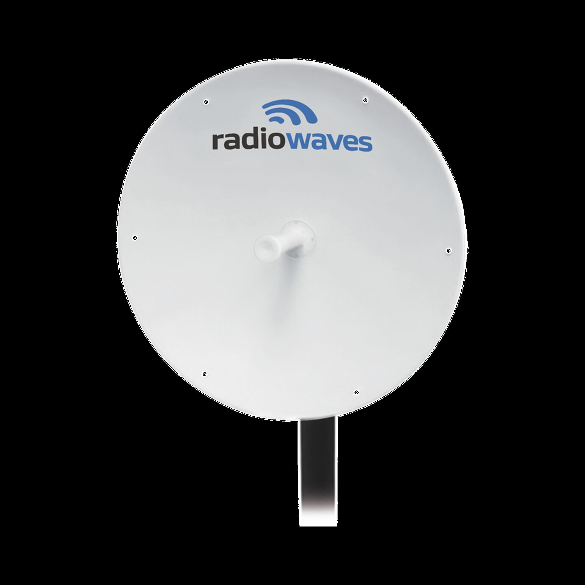 Antena Direccional, Dimensiones (3 ft), Ganancia 33 dBi, 4.9 - 6 GHz, 2 Conectores N-hembra, Incluye montaje.