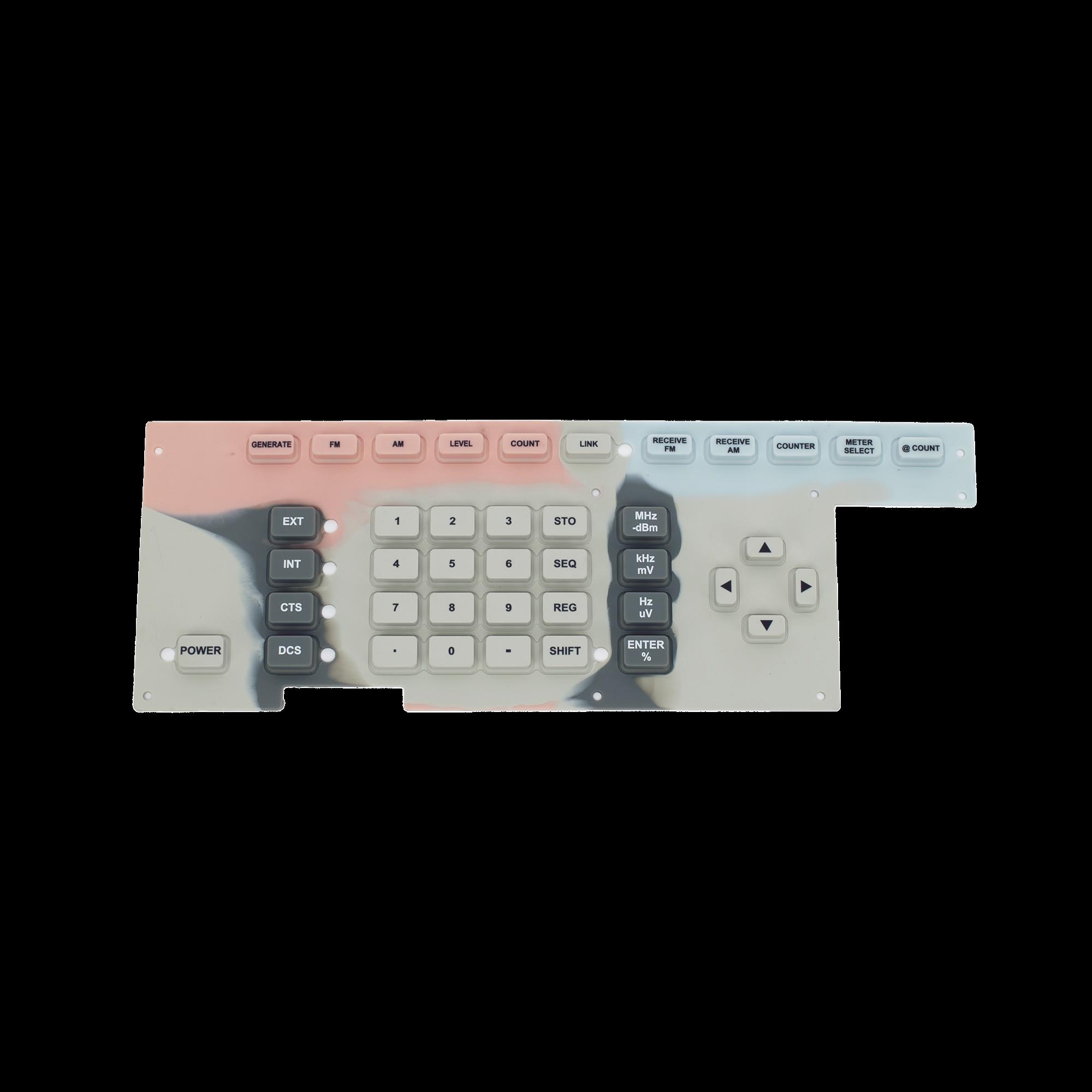 Membrana Elastomérica Touch Pad para Monitor de Servicio Ramsey COM-3010.