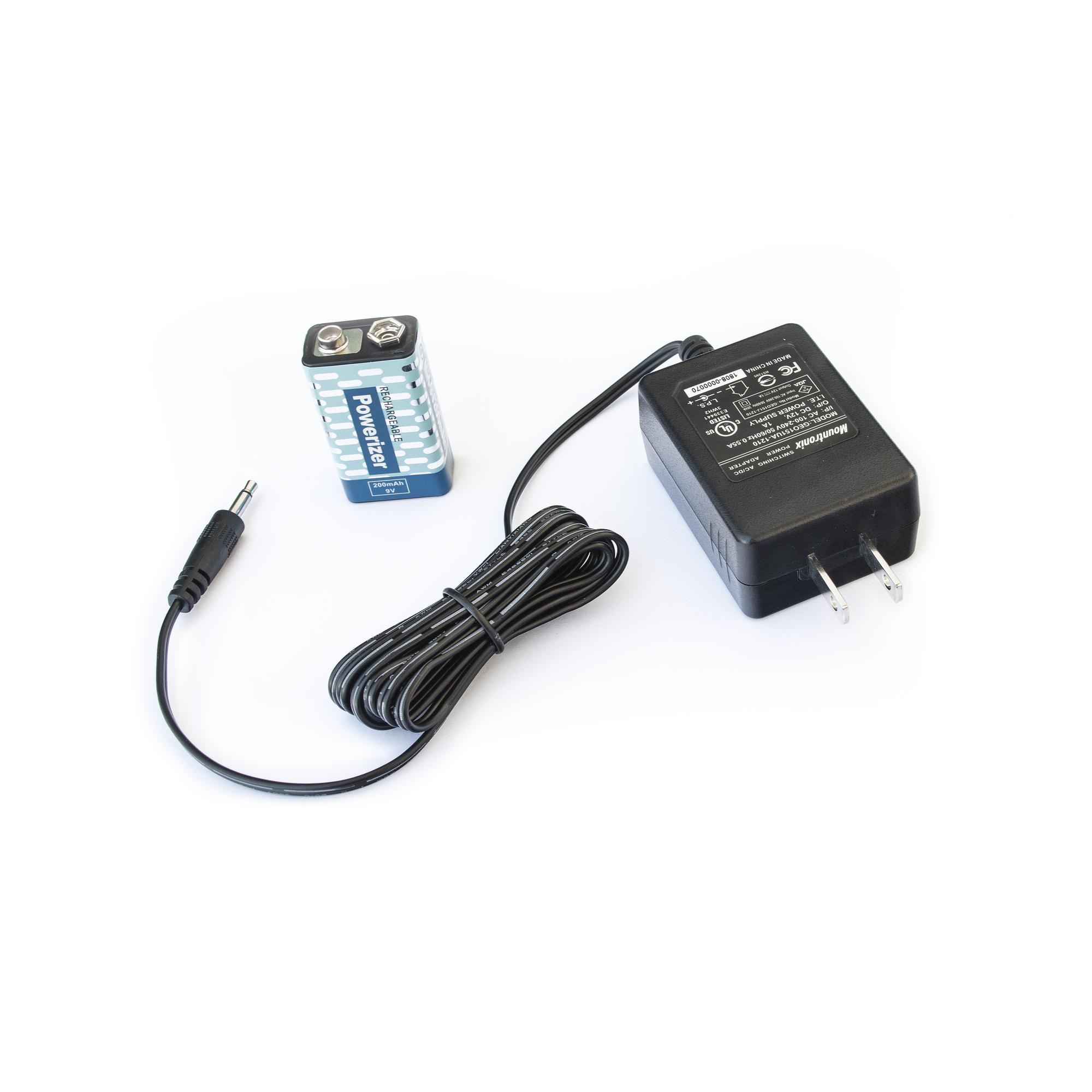 Cargador y batería recargable de 9 VCD para detector portátil RANGER1000 / RANGER15000