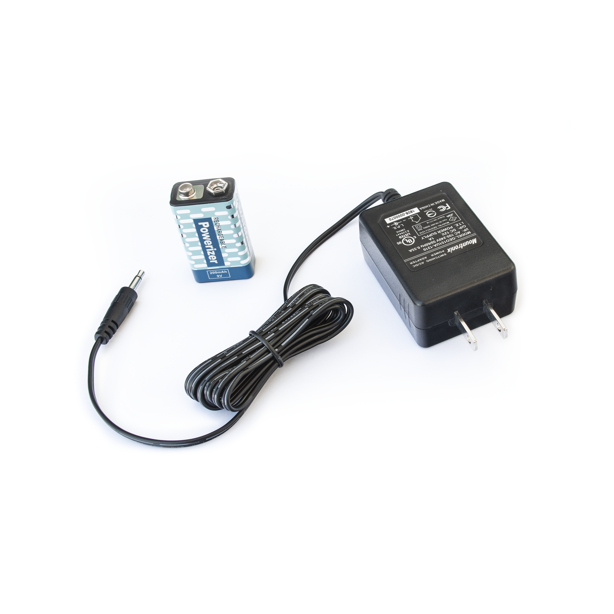 Cargador y bateria recargable de 9 VCD para detector portatil RANGER1000 / RANGER15000