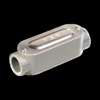 """Caja Condulet tipo C de 3/4"""" (19.05 mm) Incluye tapa y tornillos."""
