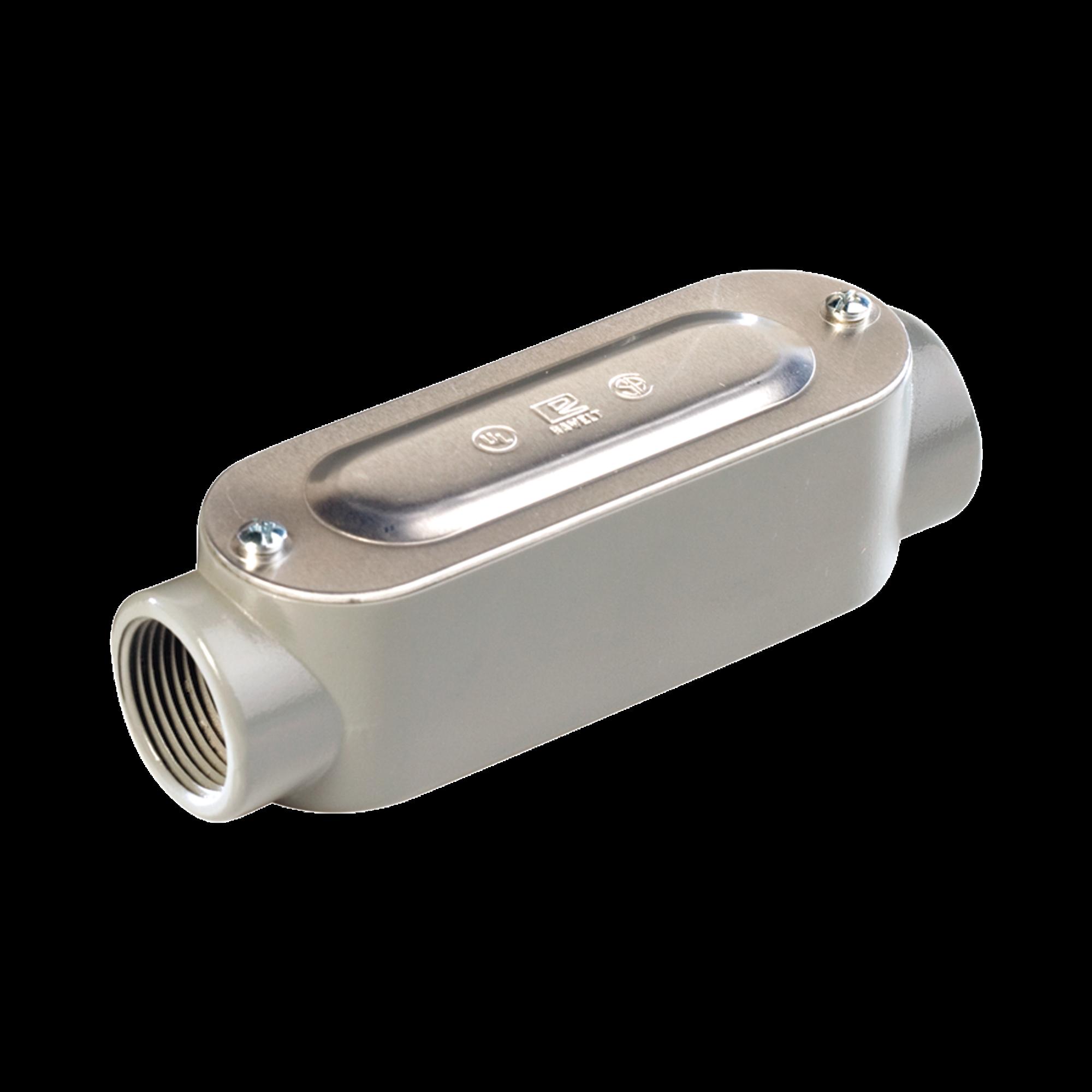 Caja Condulet tipo C de 1/2 (12.7 mm) Incluye tapa y tornillos.