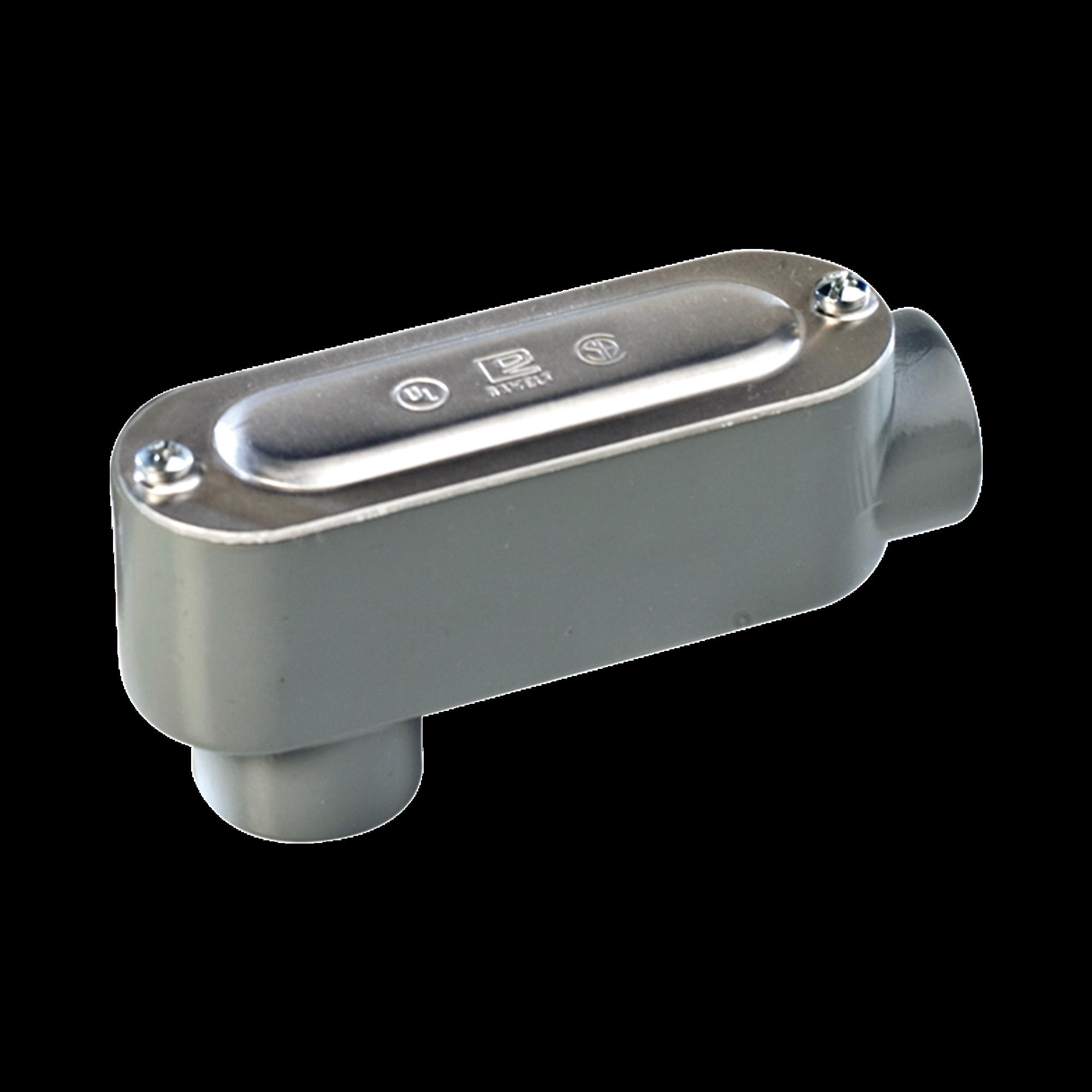 Caja Condulet tipo LB de 1 (25.4 mm) Incluye tapa y tornillos.