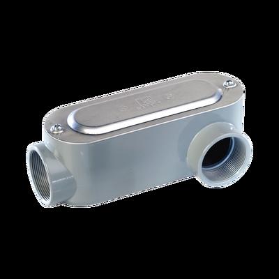 """Caja Condulet tipo LL de 3/4"""" (19.05 mm) Incluye tapa y tornillos."""