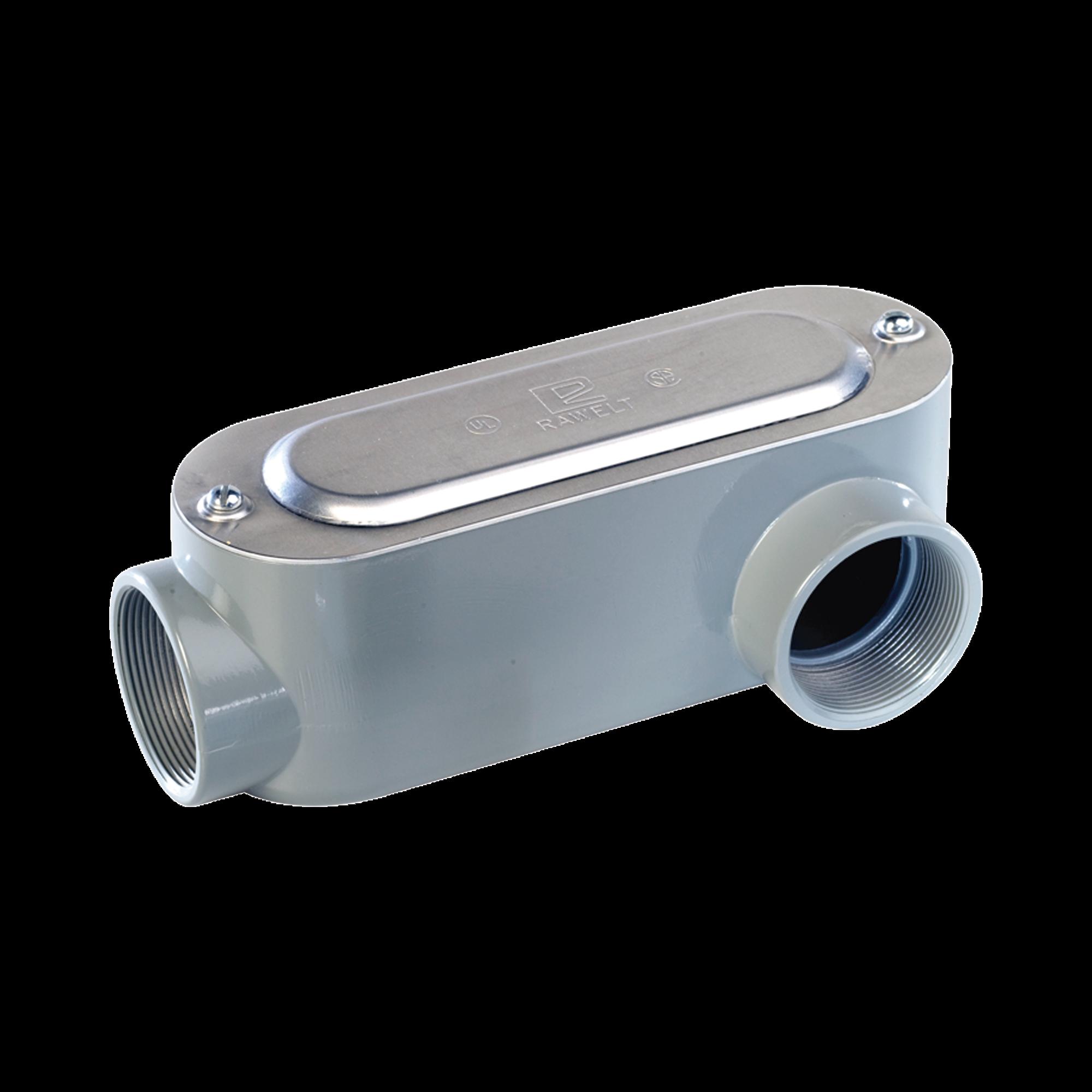 Caja Condulet tipo LL de 1 (25.4 mm) Incluye tapa y tornillos.