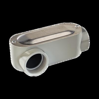 """Caja Condulet tipo LR de 3/4"""" (19.05 mm) Incluye tapa y tornillos."""