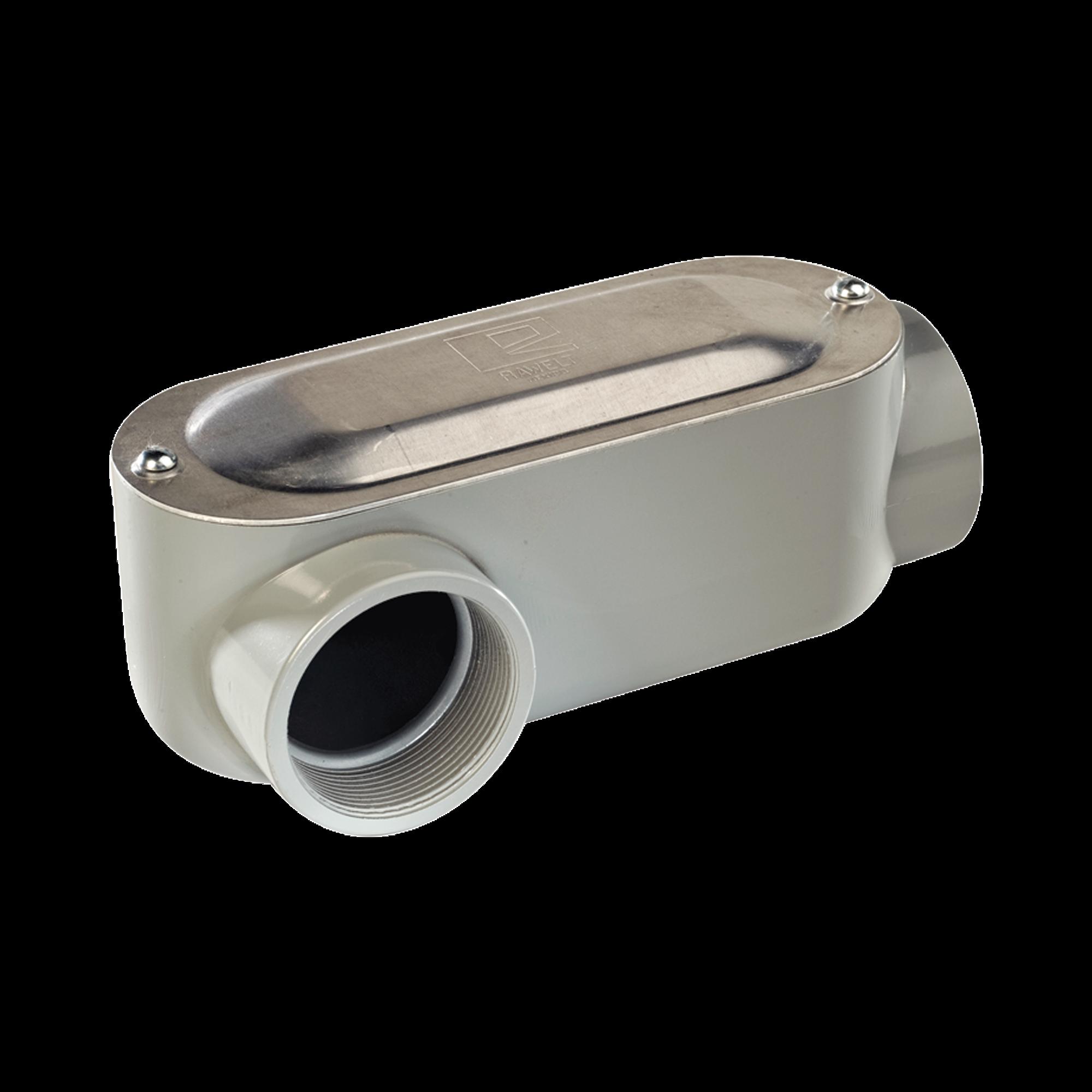 Caja Condulet tipo LR de 1 (35.4 mm) Incluye tapa y tornillos.