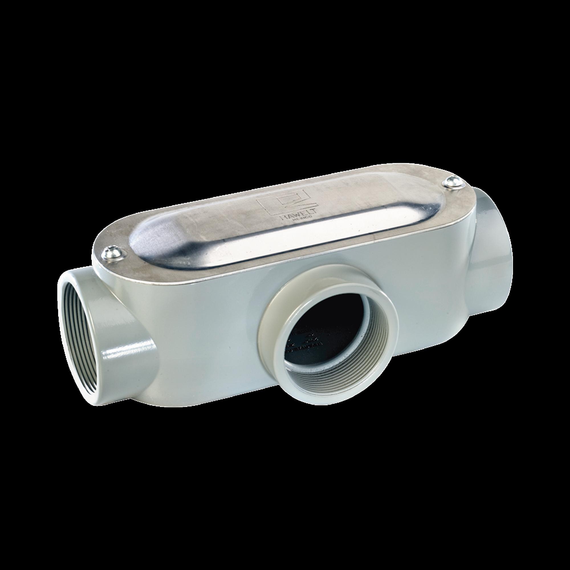 Caja Condulet tipo T de 1/2 (12.7 mm) Incluye tapa y tornillos.