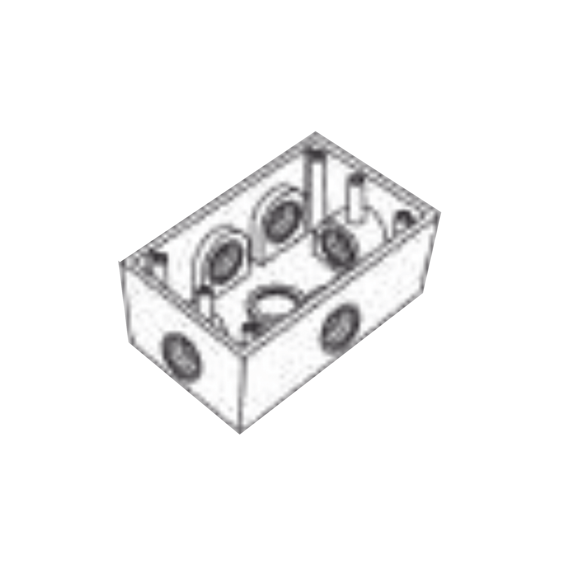 Caja Condulet FS de 1/2 ( 12.7 mm) con seis bocas a prueba de intemperie.