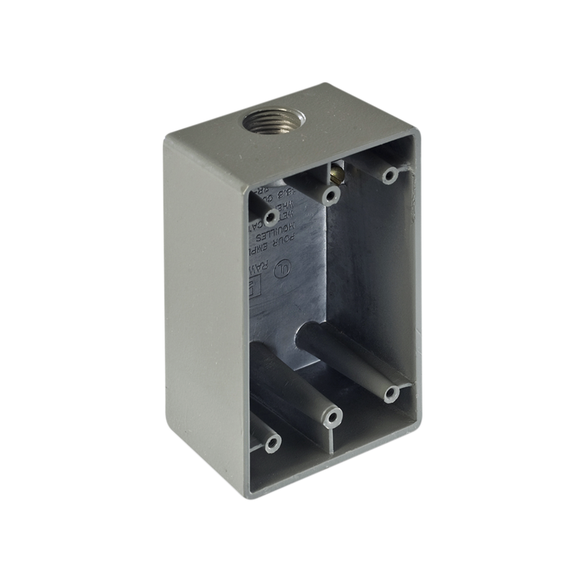 Caja Condulet FS de 1/2 ( 12.7 mm) con una boca a prueba de intemperie.