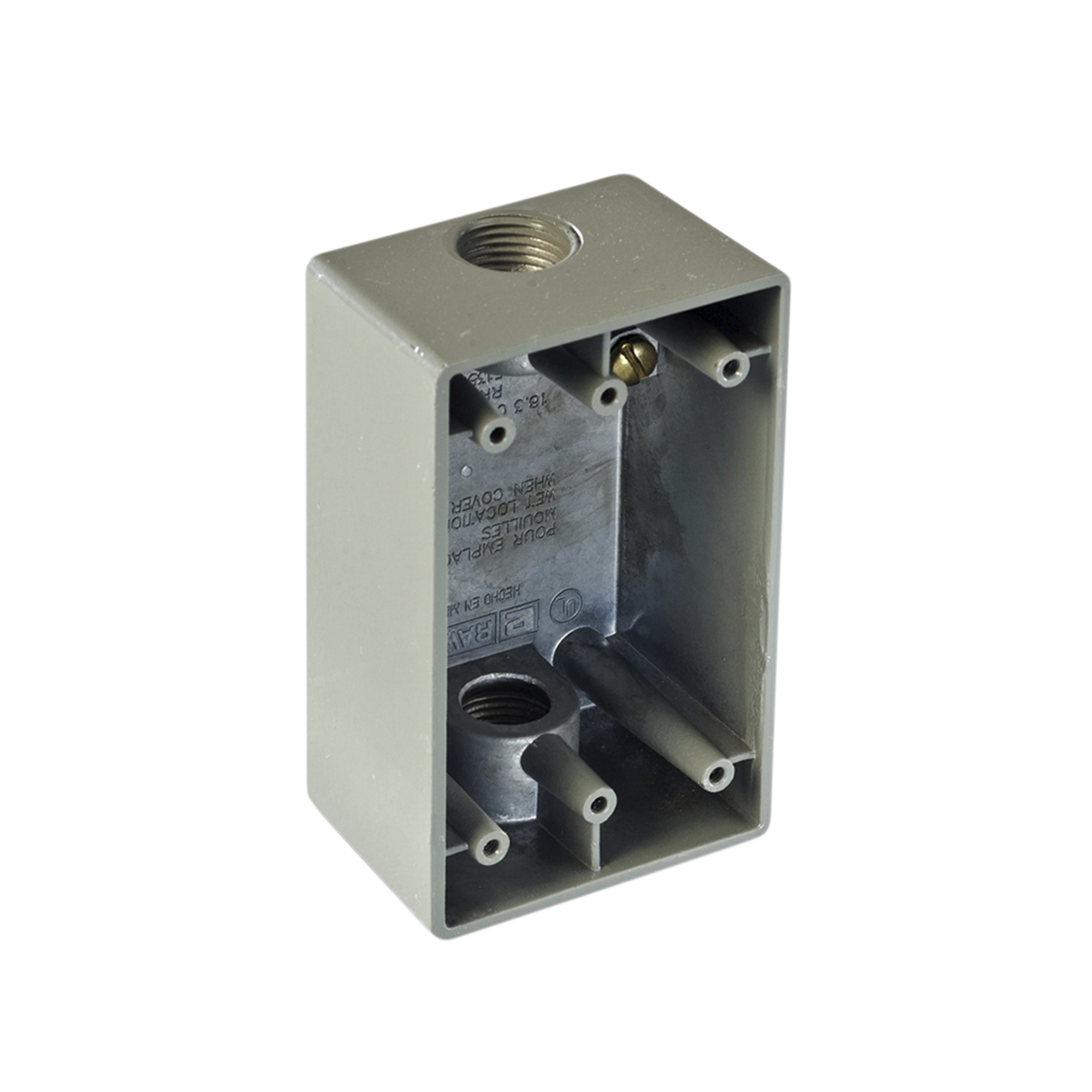 Caja Condulet FS de 1 ( 25.4 mm) con dos bocas a prueba de intemperie.