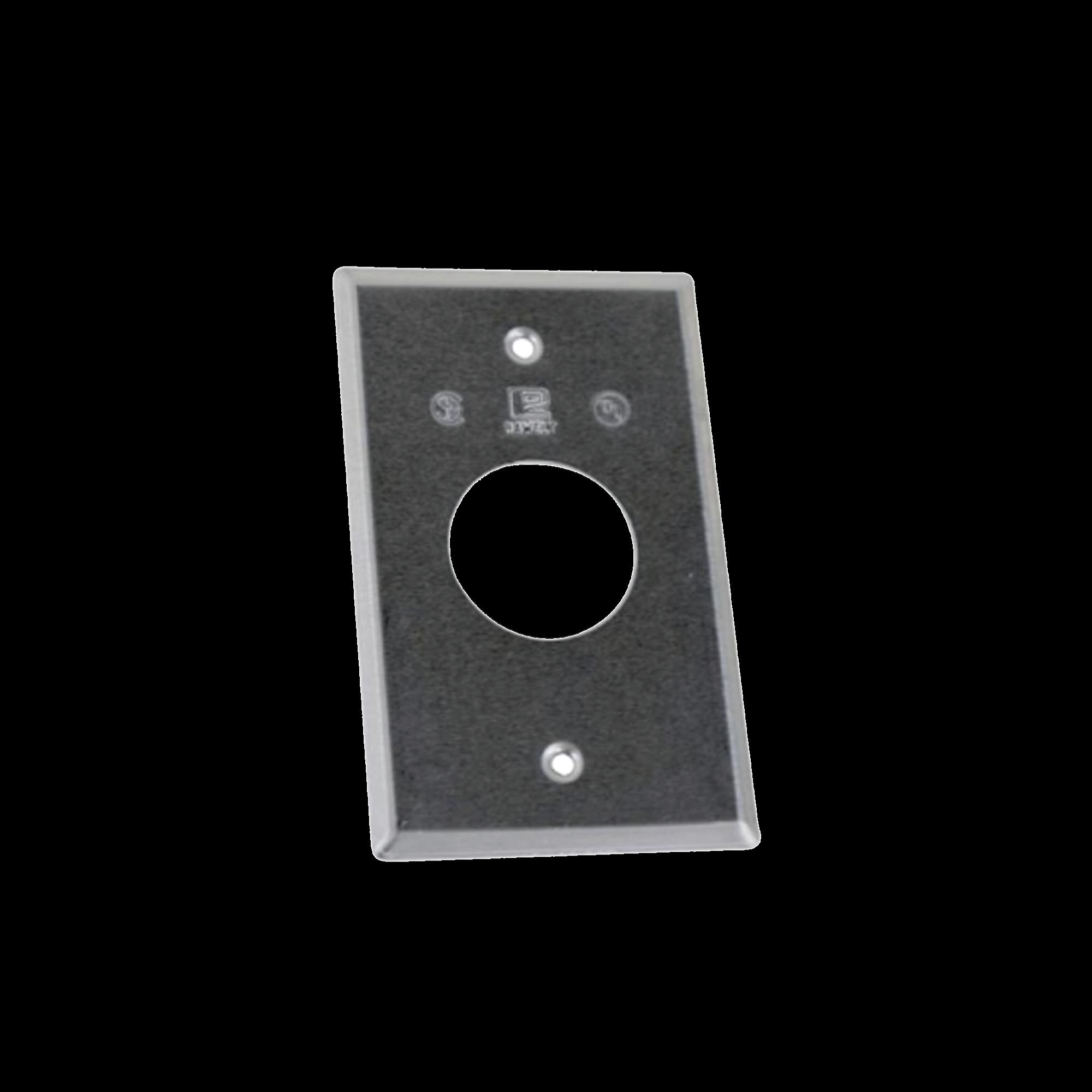 Tapa rectangular aluminio para contacto de 35.2 mm, tipo RR a prueba de intemperie.