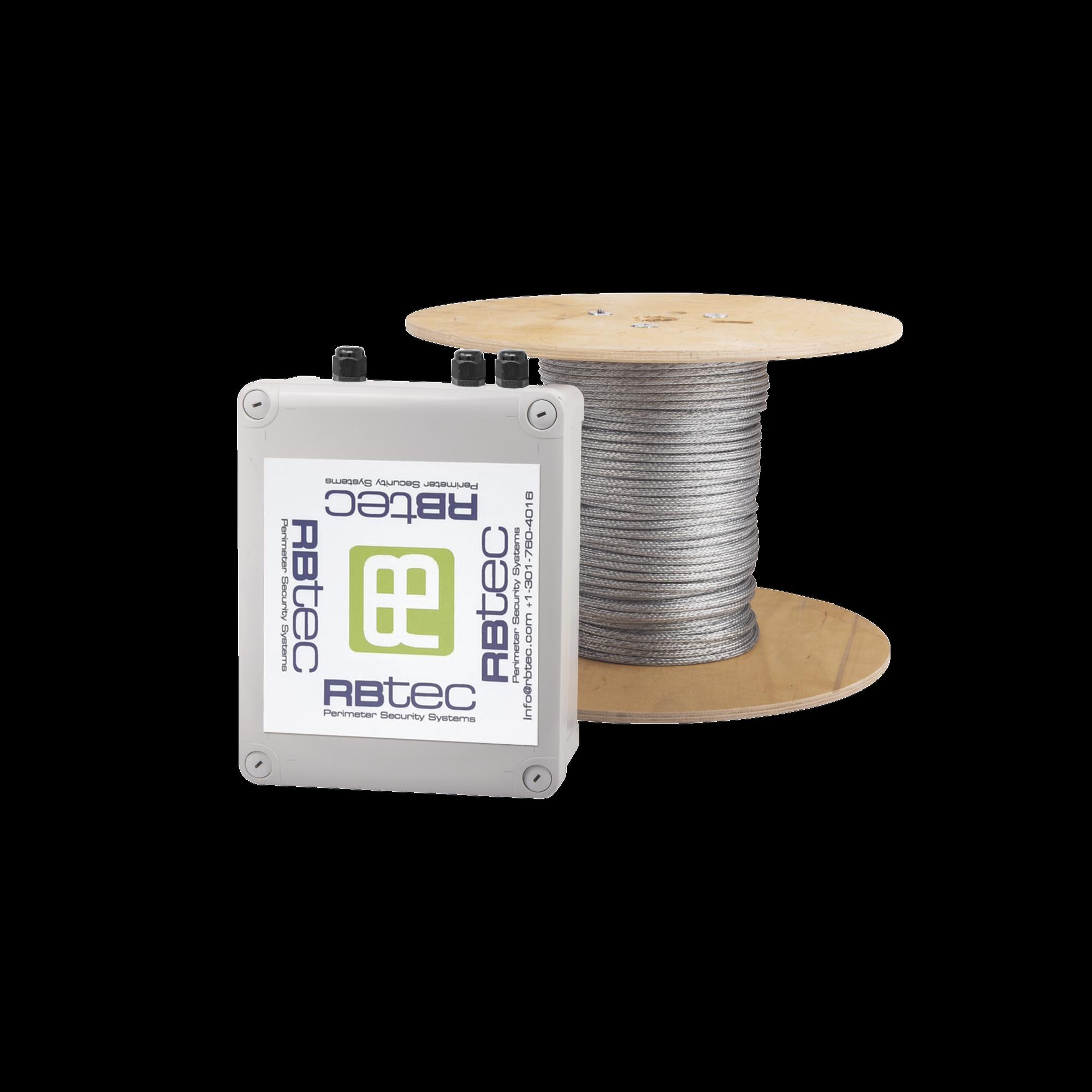 Kit de Cable Sensor Perimetral IRONCLAD para Cercas Ciclónicas / 152 METROS / 1 ZONA / Sin Falsas Alarmas por Viento / TODO Incluido