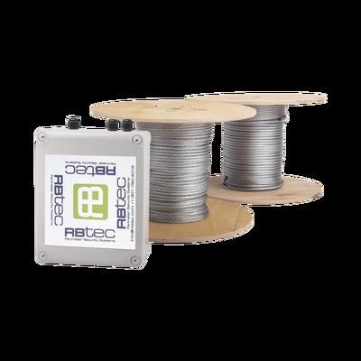 Kit de Cable Sensor Perimetral para Cerca Ciclonicas IRONCLAD / 610 METROS DE PROTECCION / 2 ZONAS; 305 METROS POR ZONA / Sin Falsas Alarmas por Viento / TODO Incluido
