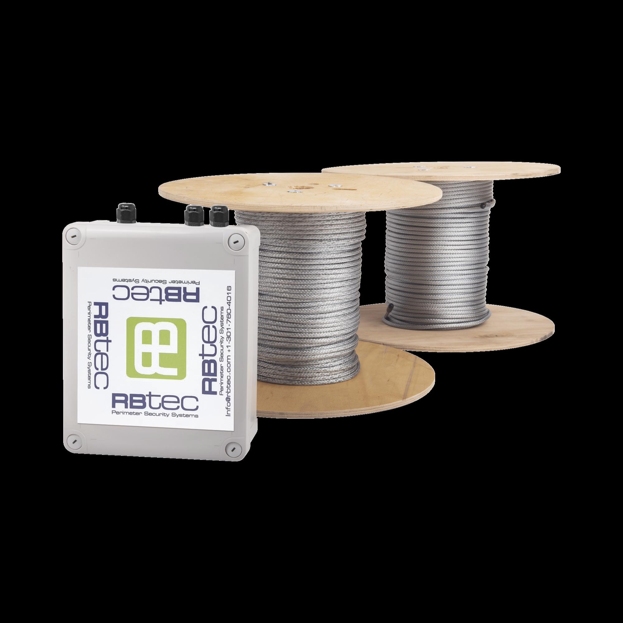 Kit de Cable Sensor Perimetral Para Cercas Ciclonicas IRONCLAD/ 305 METROS / 2 ZONAS; 152 METROS POR ZONA / Sin Falsas Alarmas por Viento / TODO Incluido