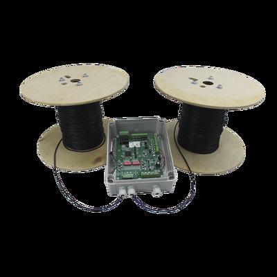 MICALERT Cable Sensor para Paredes, Rejas Rigidas o barandales / 2 zonas de 305 metros / 610 Metros de Protección Total