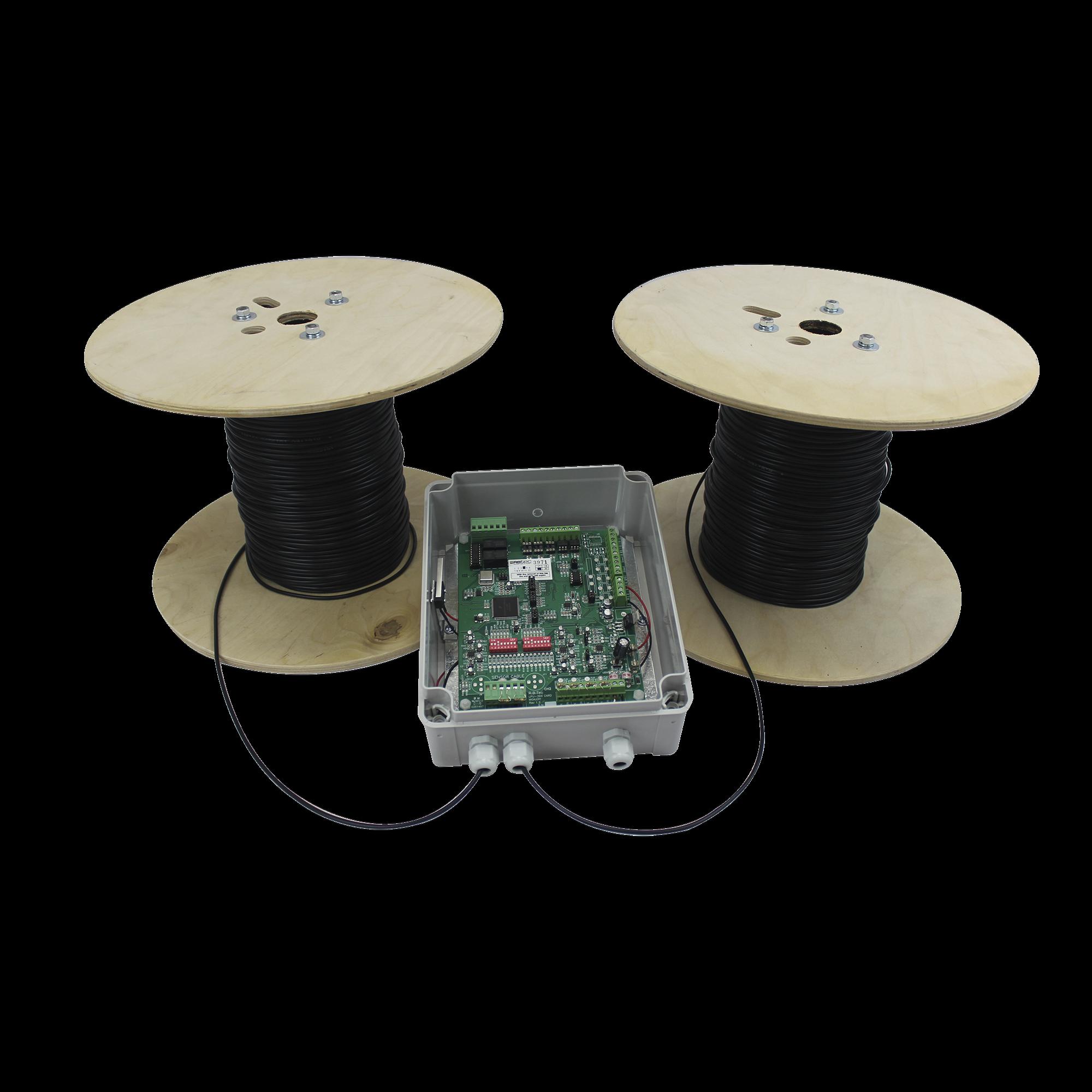 MICALERT Cable Sensor para Paredes, barandales, rejas rigidas / 2 zonas de 152 metros / 304 Metros de protección total
