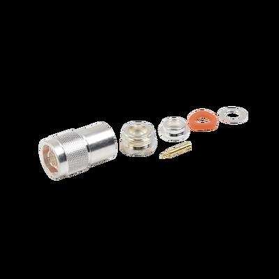 Conector N Macho para Cables con Conductor Central de AWG-11 ó 13, Tipo RG-8/U (BELDEN 8237), RG-213/U (8267), RG-214 (8268).