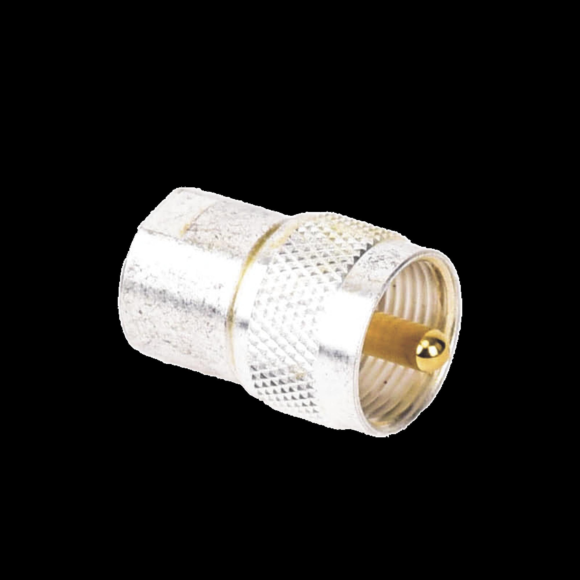 Adaptador UNIDAPT Hembra a UHF Macho (PL-259). Plata / Oro / Teflón.