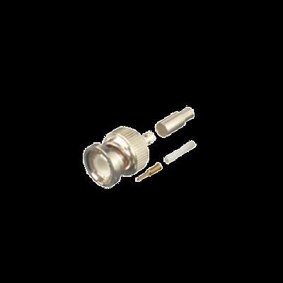 Conector BNC Macho de Anillo Plegable para Cables RG-316/U, BELDEN 84316.