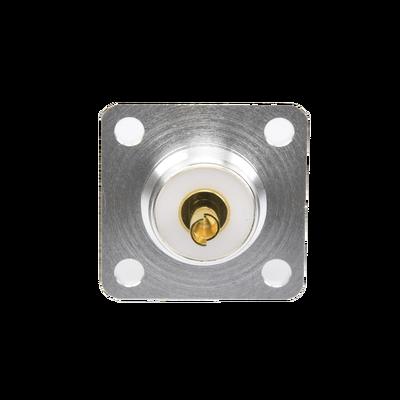 Conector UHF Hembra (SO-239) para Chasis 18 mm, Terminal Soldable, Plata/ Oro/ Teflón.