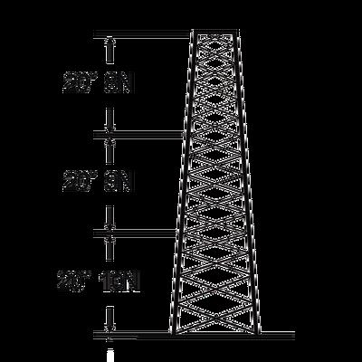 Torre especial Autosoportada Robusta de 18 m. Linea SSV HEAVY DUTY (Sec. 8 - 10)
