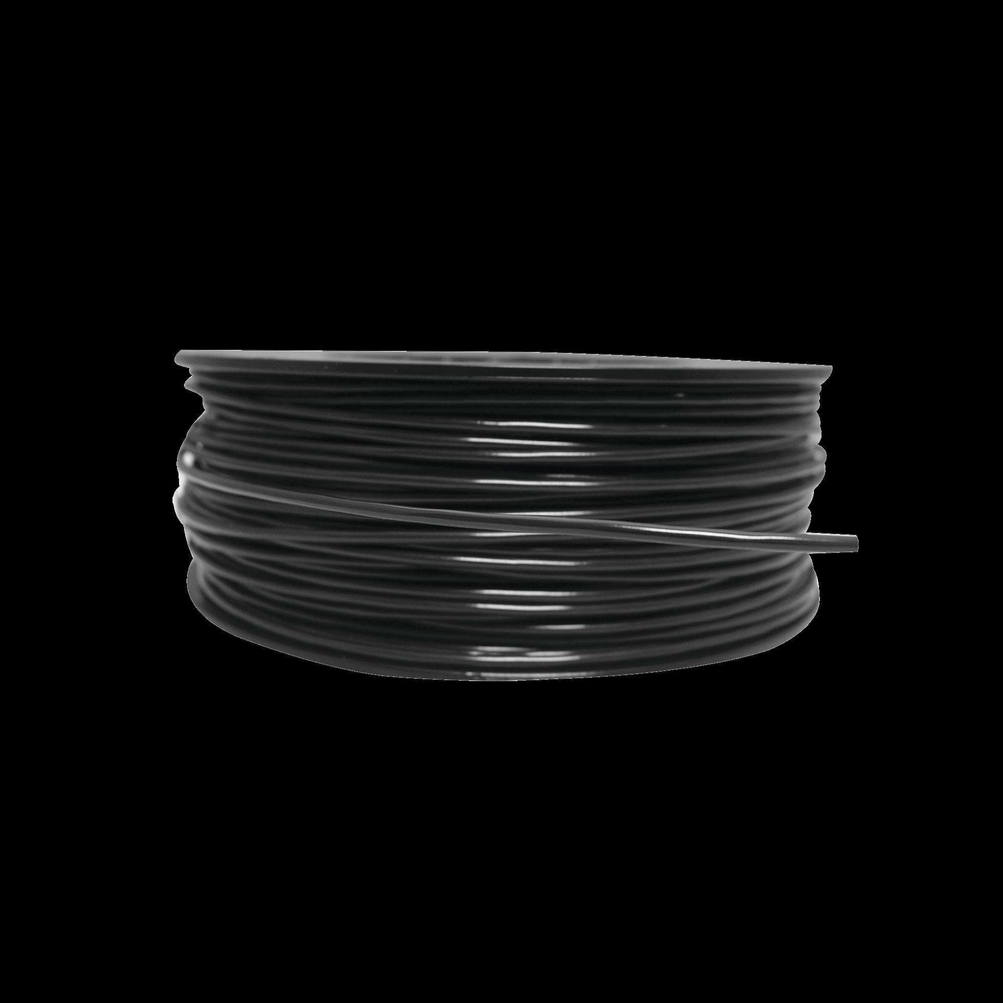Bobina de 152 Metros de Cable Detector de Calor, Temperatura Fija 88 grados Celsius, Recubrimiento de Nylon Negro para Aplicaciones en Exterior, con Guía Acerada