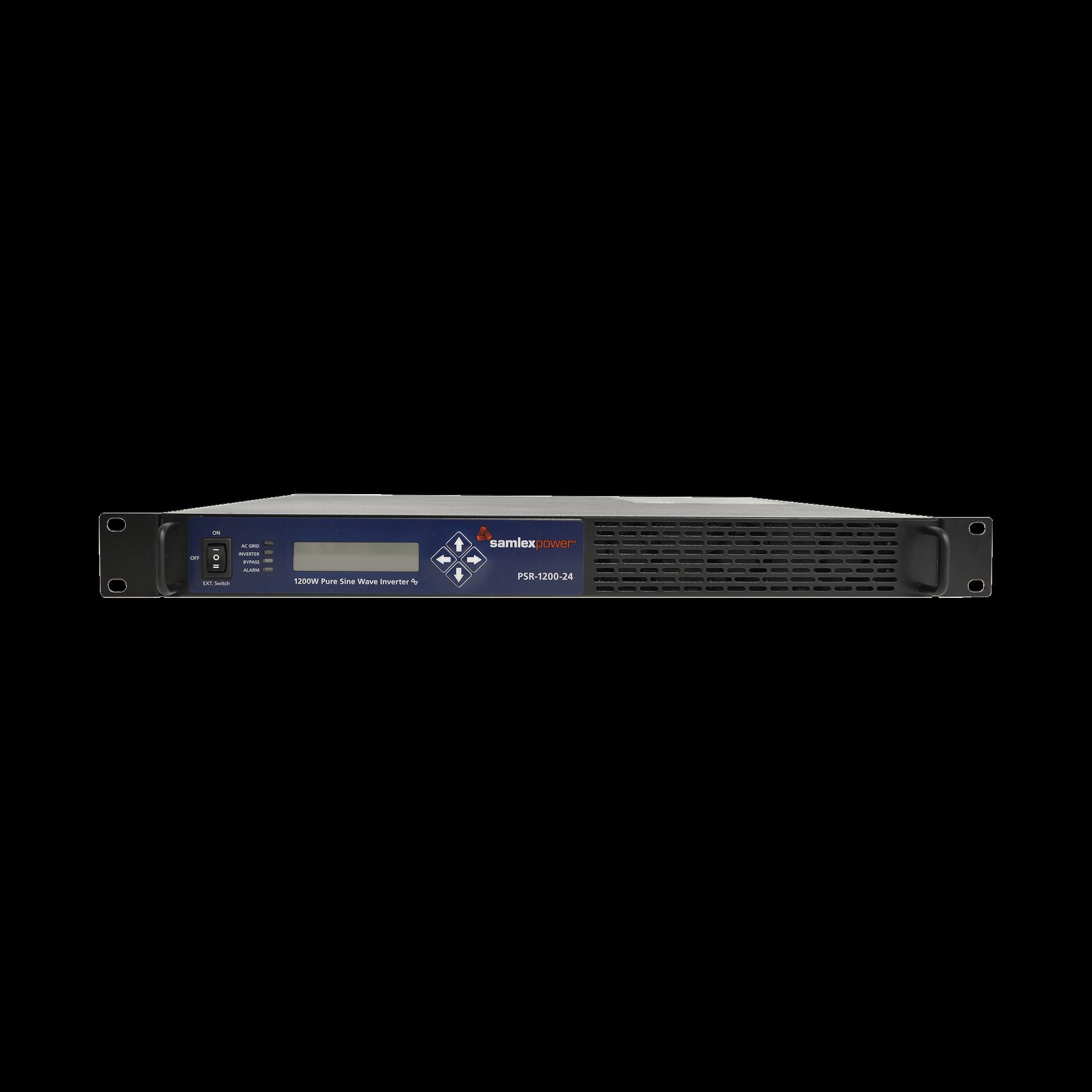 Inversor de corriente Onda Pura Montaje en rack 1U 1200W, 24 VCD- 120 VCA, 50/60 Hz
