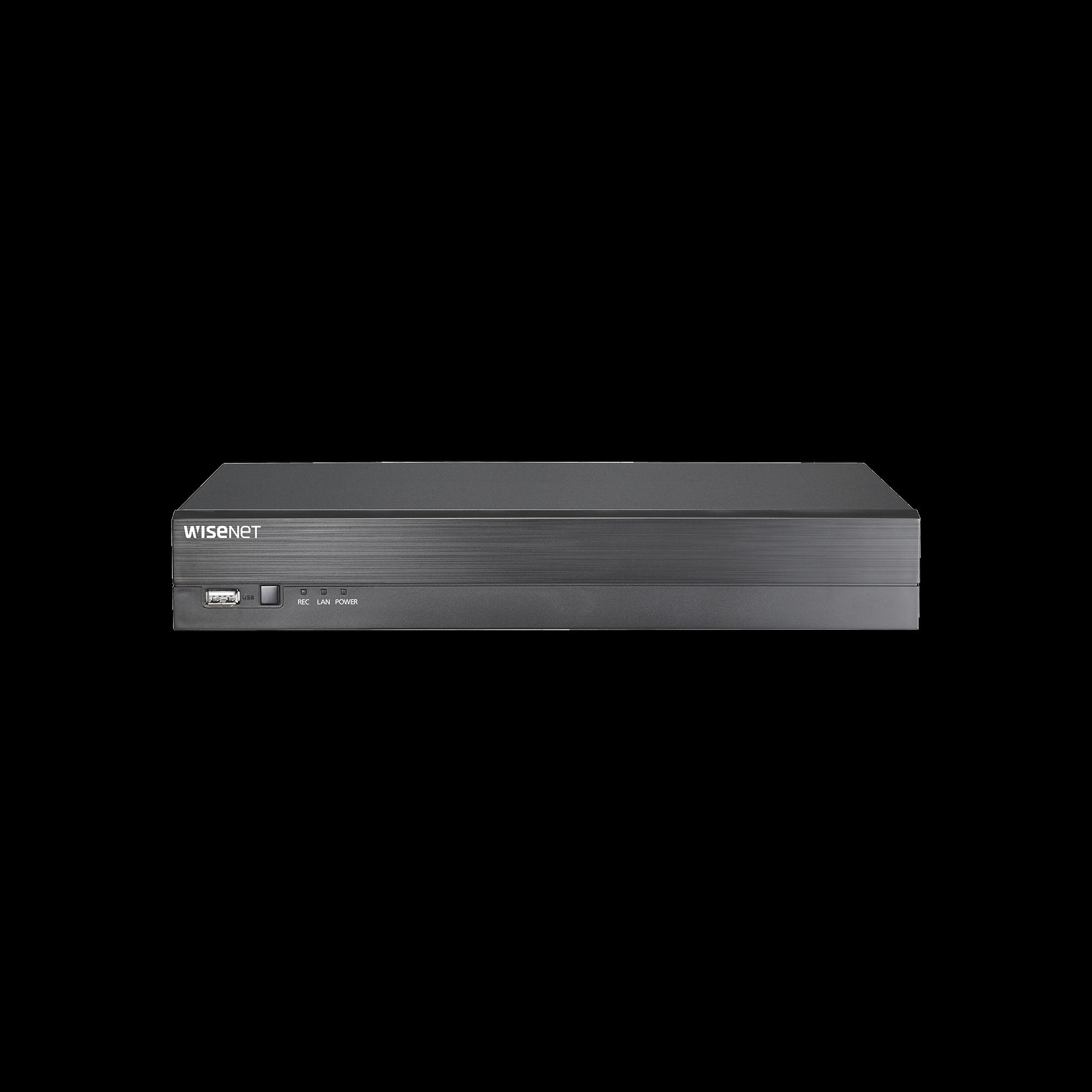 DVR 4 Canales hasta 4 Megapixel / Soporta 4 Tecnologías (AHD, TVI, CVI, CVBS) / 1 Entrada y Salida de Audio / 4 Entradas y 1 Salida de Alarma / Incluye 4TB