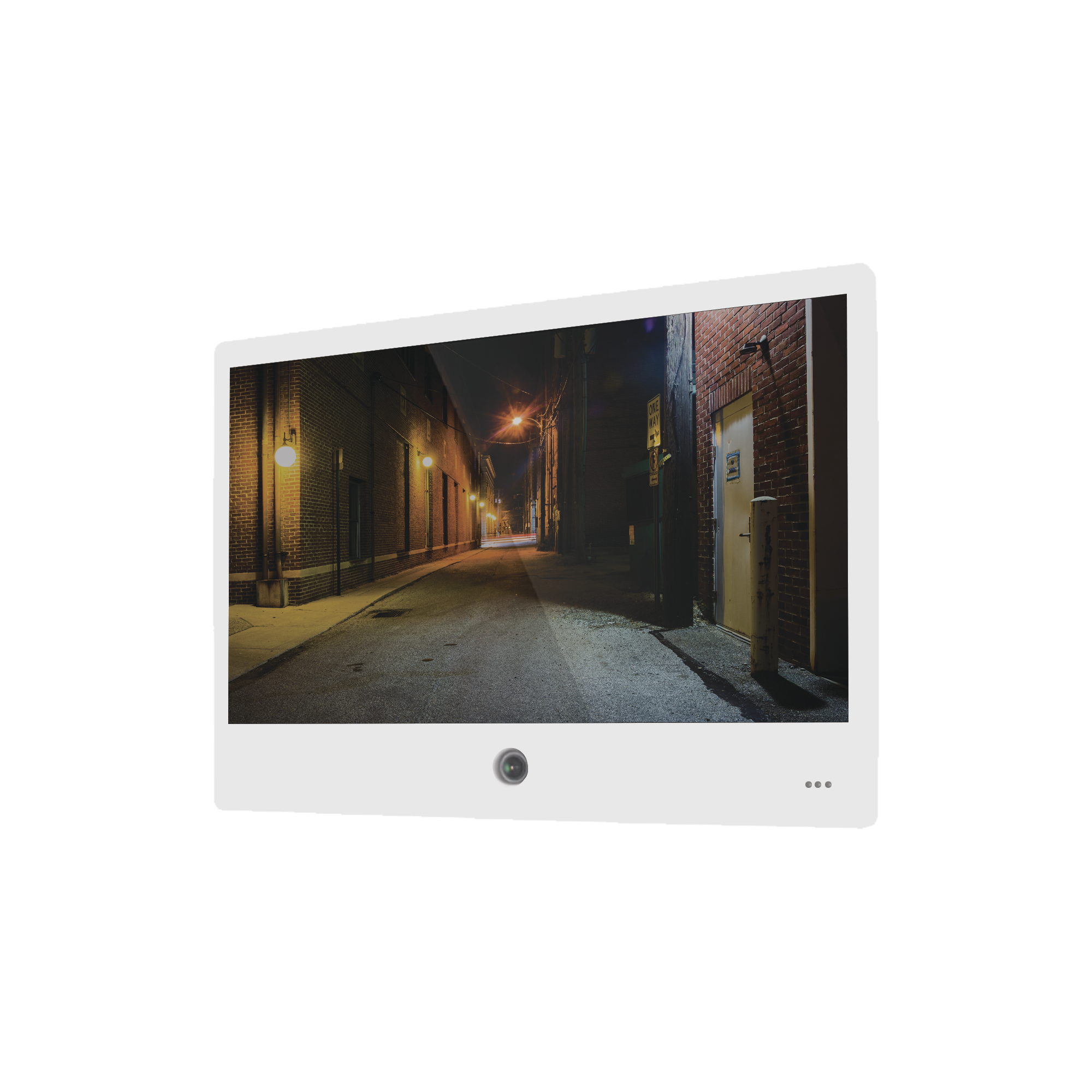 Monitor de Vista Publica de 21.5 Cámara 2 Megapixel Integrada (Color Blanco)
