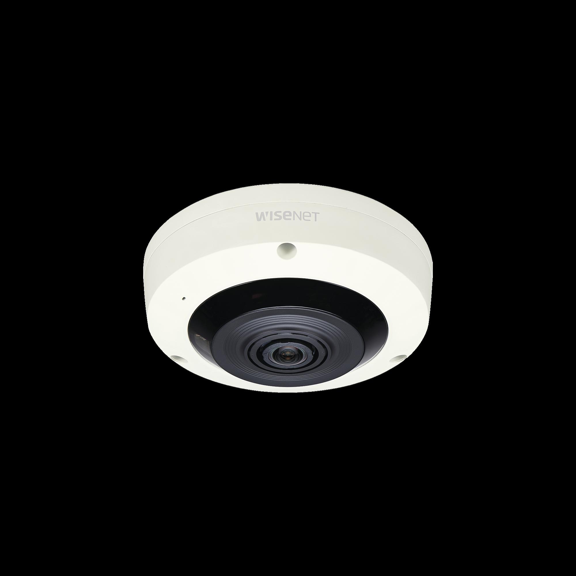 Fisheye IP Interior 6 Megapixel / WDR 120dB / IR 15m / PTZ Digital 8X / Video Analíticos Avanzados / Entrada y Salida de Audio y Alarma