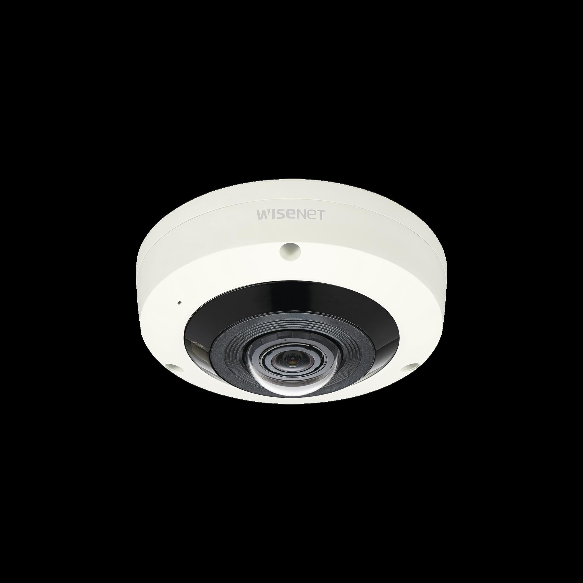 Fisheye 6 Megapixel/ Conector M12 / WDR 120dB / IR 15m / PTZ Digital 8X / Video Analíticos Avanzados / Entrada y Salida de Audio y Alarma