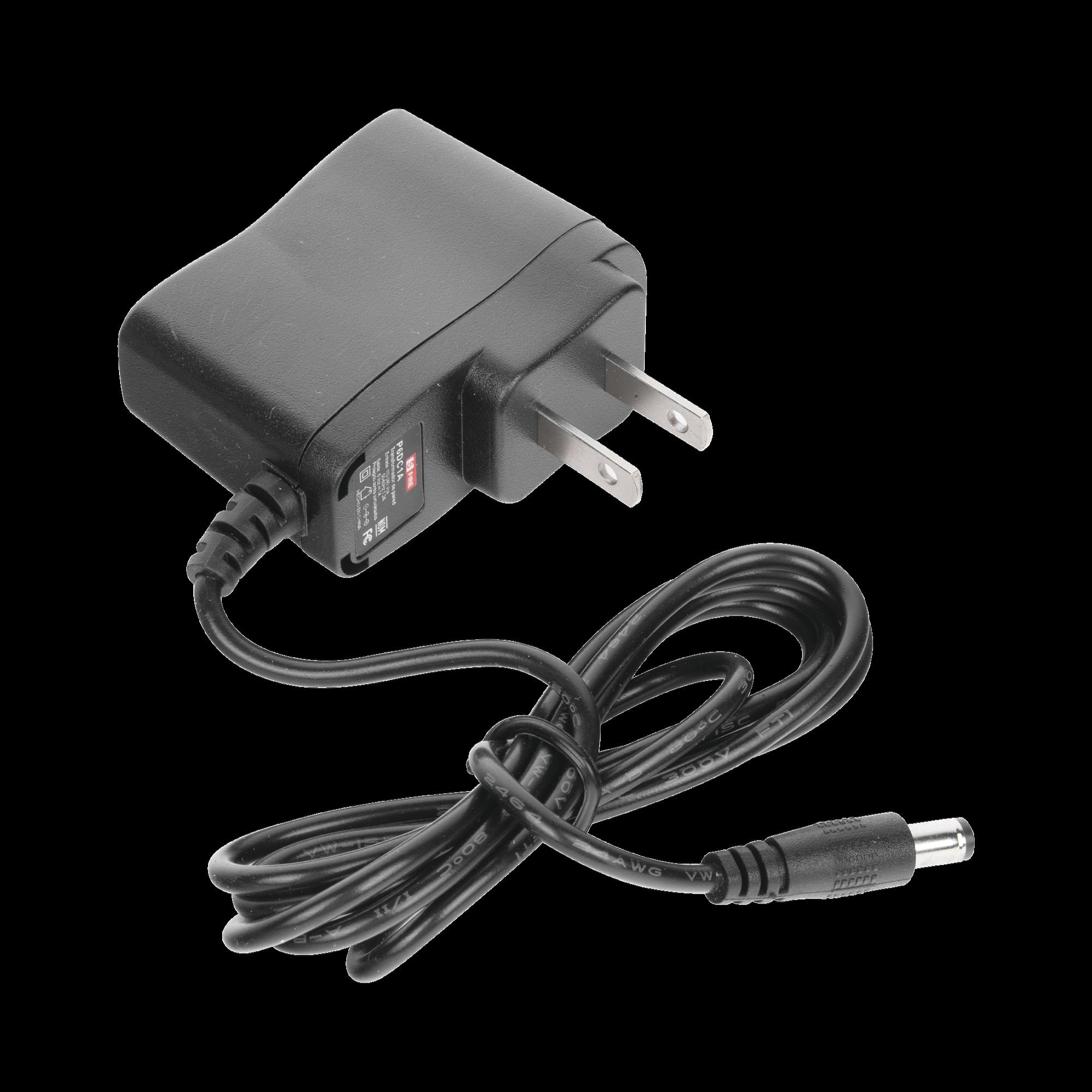 Fuente de poder de 6 Vcd regulado @ 1A; Voltaje de entrada de 100-240 Vca. Certificación de NOM